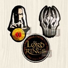 Lotr Patches Set Tolkien Sauron Helmet Saruman Lord of the Rings Embroidered