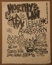 MURPHY'S LAW + LETHAL AGGRESSION New Jersey (1986) Vintage Punk Flyer Hardcore