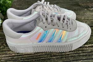 Adidas Sambarose Iridescent Orchid Gray Sneakers Womens 8.5 Athletic Shoe
