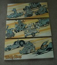 Wacky Races Retro Cartoon - Triple Canvas Print wall art