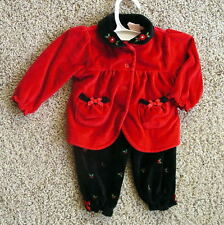 Baby Headquarters 6-9 Mo Holiday Christmas velvet Jacket pants suit 41