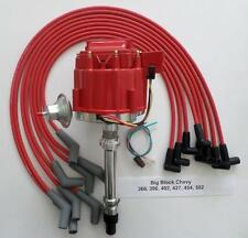 BBC CHEVY 396-454-502 RED HEI Distributor & HEI SPARK PLUG WIRES 45 DEGREE BOOTS