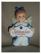 BIRTHSTONE ANGEL FIGURINE - SEPTEMBER - SAPPHIRE  - JEANE'S THINGS