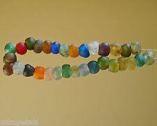 BEAUTIFUL ARTISAN UNENHANCED FAIR TRADE RECYCLED GLASS BEADS 20MM/6MM HOLE SET