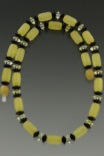 Beads Unisex Necklace 11.2g 181114-8 Genuine Baltic Amber Cylinder & Button