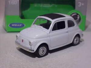 Fiat 500 Nuova Weiss Coupe a partir de 2007 ca 1//43 1//36-1//46 Welly modelo coche con o