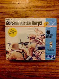 Vintage MPC German Afrika Korps Model Soldier 48 Figures WWII HO Scale SEALED