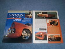 "1959 Chevy Apache Longbed Custom Pickup Article ""Orange Sliced"""