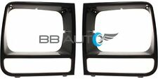 NEW Headlight Bezel Trim Set Black fits 1997-2001 JEEP Cherokee Classic Limited