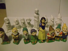 Disney Snow White and the seven dwarves figures paint your own