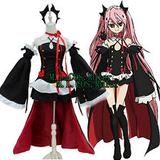 New Seraph of the End Krul Tepes Cosplay Anime Costume Party Dress Cos Headwear