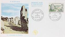ENVELOPPE PREMIER JOUR - 9 x 16,5 cm - ANNEE 1965 - CARNAC LES MENHIRS