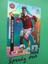 Euro 2012 bendtner Edición limitada limited edition Panini Adrenalyn 12