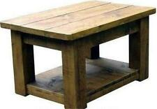 any size made SOLID WOOD POTBOARD COFFEE TABLE rustic plank pine furniture SHELF