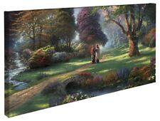 Thomas Kinkade Walk of Faith 16 x 31 Wrapped Canvas