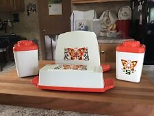 Collectable Napkin Holder,butter Dish, And Salt And Pepper Shakers