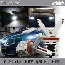 2x 20W H8 LED Angel Eye Marker Light V Style for BMW E92 E82 E60 E63 F01 E70 E71