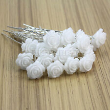 20pcs Clips Résine Fleur Rose épingle à Cheveux Accessoire Mariage Mariée Party