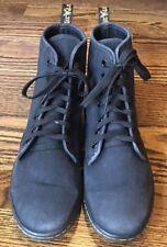 Woman's Dr. Martens Shoreditch Black Canvas Lace-up Hi Top Shoes Size 9 EUC