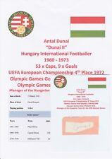 "Antal Dunai ""Dunai II"" Hungría Intl 1960-1973 Original Corte/tarjeta autógrafo"
