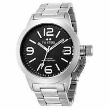 TW Steel TW300 Unisex Canteen 40mm Black Dial Stainless Steel Bracelet Watch