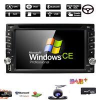 Double 2 DIN Car DVD GPS Player Stereo Head Unit Sat Nav TouchScreen Radio DAB+