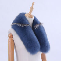 New Real Fox Fur Multicolor Shawl Collar Fur Scarf Female Fashion Wraps Scarves
