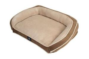 Serta Orthopedic Memory Foam Couch Pet Soft Bed XL Dog Durable Pillow , Brown