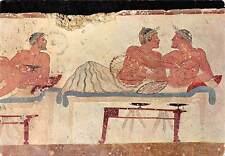 Italy Paestum Tomba del Tuffatore Particolare lastra Nord Plunger's Grave
