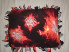 Wwe World Wide Wrestling Hand Tied Double Sided Fleece Rag Pillow~Brand New