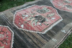 Vintage Handmade Turkish Oushak  Runner Rug Carpet 8'x3'