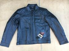 "RK Sport Mens Classic Leather Motorcycle Motorbike Jacket UK 46"" chest (H22)"