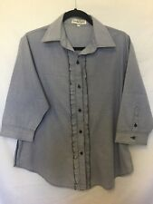 Cockatoo Country blue checkered size 12 top