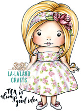 AFTERNOON TEA MARCI-La-La Land Crafts Cling Mount Rubber Stamp-Stamping Craft