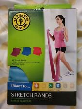 Gold's Gym Set of 3 Stretch Bands/ resistance /toning/flexibility with Guide New