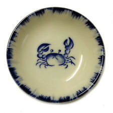 """4 PCS. Japanese 3.5""""D Soy Sauce Wasabi Dipping Dishes Blue Crab, Made in Japan"""