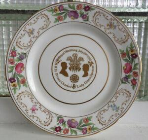 """Hammersley China Plate - Royal Wedding July 29th 1981 Charles & Di 11""""  VGC"""