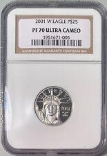 2001-W P$25 1/4 oz Platinum Eagle NGC PF-70 Ultra Cameo