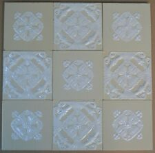GERMANY - VILLEROY & BOCH - ANTIQUE ART NOUVEAU MAJOLICA 9-SET TILE  C1900