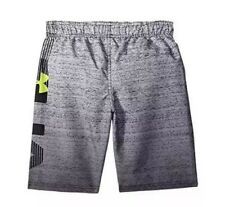 Under Armour Heatgear Youth Dipper Volley Shorts Swim Black Gray Sz Youth Large