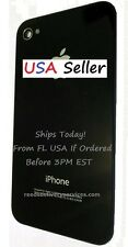 iPhone 4S Battery Cover BLACK Back Glass OEM Original Apple A1387 Door