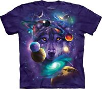 The Mountain Unisex Adult Wolf of the Cosmos Wolves T Shirt