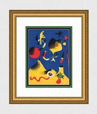 Vivid HIGH VALUE Joan MIRO ORIGINAL 1937 Color Lithograph AIR Framed SIGNED COA