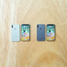 Bundle Set of iPhone X [Silver and Space Gray] Miniature Scale 1:6 for Dollhouse