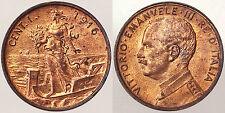 1 CENTESIMO 1916 REGNO D'ITALIA VITTORIO EMANUELE III Fdc RAME ROSSO #9904