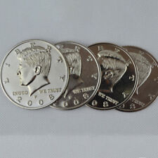 Jumbo Half Dollar Shells 3 + 1 Set(Dia 5.8cm) One Coin to Four Magic Tricks
