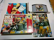 NINTENDO 64 NFL QUARTERBACK CLUB COMPLETE WITH MINT BOX, INSTRUCTIONS ETC USED