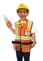 Melissa & Doug Construction Worker Costume Outfit Role Play Fancy Dress 3-6