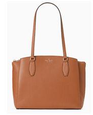 ❤️NWT KATE SPADE monet large tote Brown triple compartment Laptop bag satchel