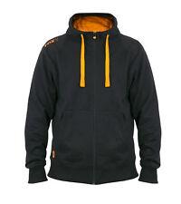 FOX NEW Carp Fishing Lightweight Zipped Black & Orange Hoodie/ Hoody - All Sizes